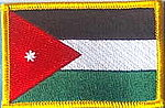 Jordan flag patch, country patch jordan, identification Jordan