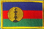Kanak flag Patch, Kanak new caledonia country patch