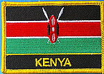 Kenya flag patch, country patch kenya, iron on patch Kenya