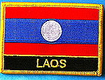 Laos Flag patch, Laos country patch, laos iron on patch,Laos