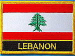Lebanon Flag Patch, Country Patch Lebanon, Lebanon identifications, LEBANON