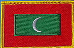 Maldives flag patch, country patch maldives, maldives iron on patch, maldives