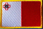 Malta flag patch, iron on patch malta, identifications patch malta