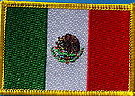 Mexico Flag patch, country patch mexico, mexico iron on patch