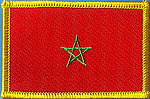 Morocco Flag Patch, Morocco iron on patch, country flag morocco patch