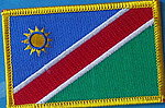 Namibia flag patch, country namibia patch, Iron on patch Namibia
