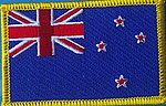 New Zealand flag patch, iron on patch NZ