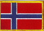 Norway flag patch, Iron on patch Norway, Nerwegian flag patch, country norway