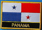 Panama flag patch, iron on patch panama