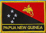 PNG, Papua New Guinea flag patch, iron on patch PNG, Papua New Guinea flag identifickation