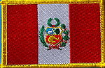 Peru flag patch, iron on patch Peru, Peru country patch
