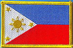 Philippines flag patch, country patch philippines, iron on patch philippines