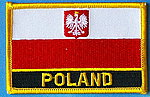 Poland country patch, iron on patch poland, poland flag patch