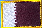 Qatar Flag patch, country qatar patch, iron on patch qatar
