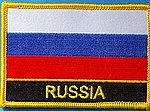 russia flag patch, country russia patch