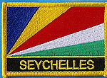 Seychelles flag patch, iron on patch seychelles
