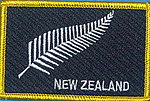 New Zealand Silver fern patch, flag patch Silverfern, Kiwi flag patch