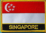 Singapore flag patch, Iron on patch singapore