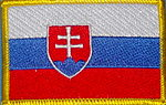 Slovakia Flag patch, iron on patch, country patch Slovakia