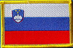 Slovenia Flag Patch, country patch slovenia