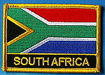 South Africa flag patch, country patch South Africa