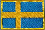 Sweden Flag patch, country patch sweden
