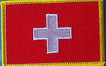 Switzerland flag patch, embroidere country patch swiss