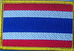 Thailand flag patch, iron on patch Thailand, embroidered country patch Thailand