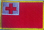 Tonga embroidered country patch, tonga flag patch
