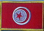 Tunisia flag patch, iron on patch Tunesia