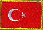 Turkey Flag Patch, Iron on patch Turkey, Turkei embroidered flag patch