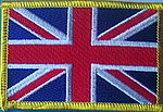 Unitede Kingdom flag patch, country patch great britain, flag patch union jack