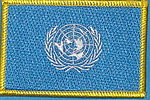 United Nations flag patch, iron on patch United Nations