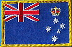 Victoria flag patch, iron on patch victoria, victoria sew on patch