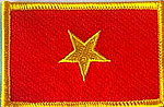 Vietnam flag patch, sewn on patch vietnam, iron on patch vietnam, country patch vietnam