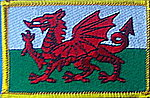 Wales flag patch, country patch wales