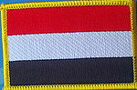 Yemen flag patch, yemen country patch