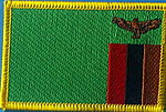 Zambia flag patch, iron on patch Zambia