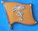 Africa Corps Flag Badge, Historical flag Pin, Lapel Pin, collect historical pins to take to your next swop meeting,