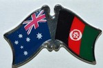 Australia/Afghanistan Friendship Pin, Crossed Flag Pin,