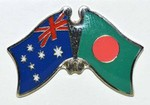 Australia/Bangladesh Pin. Crossed Flag Pin, Friendship Pin australia/Bangladesh,