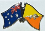 Australia/Bhutan Crossed Flag Batch,Double Flag  Pin