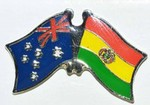 Australia/Bolivia Friendship Pin, Twin Pin, Double Pin Australia/Bolivia