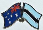 Australia/Botswana Flag Badges, Crossed Flag Pins, Anstecknadel