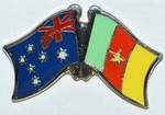 Australia/Cameroon Friendship Pin, Twin Pin