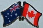 Australia/Canada Friendship Pin, Twin Pin
