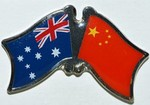 Australia/China Friendship Pin, TCrossed Flag Batch australia/China,Twin Pin