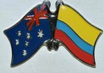 Australia/Colombia Twin Pin, Friendship Pin, Double Pin Australia/Colombia