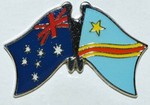 Australia/Congo Democratic Republic Twin Pin, Friendship Pin, Crossed flag Pin Australia/ Congo Democratic Republic,