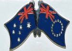 Australia/Cook Island Twin Pin, Friendship Pin, Double Pin,